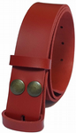 35mm Red Snap Fit Leather Belt